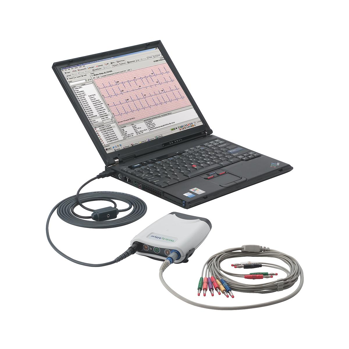 PC-Based Resting Electrocardiograph connected to laptop computer