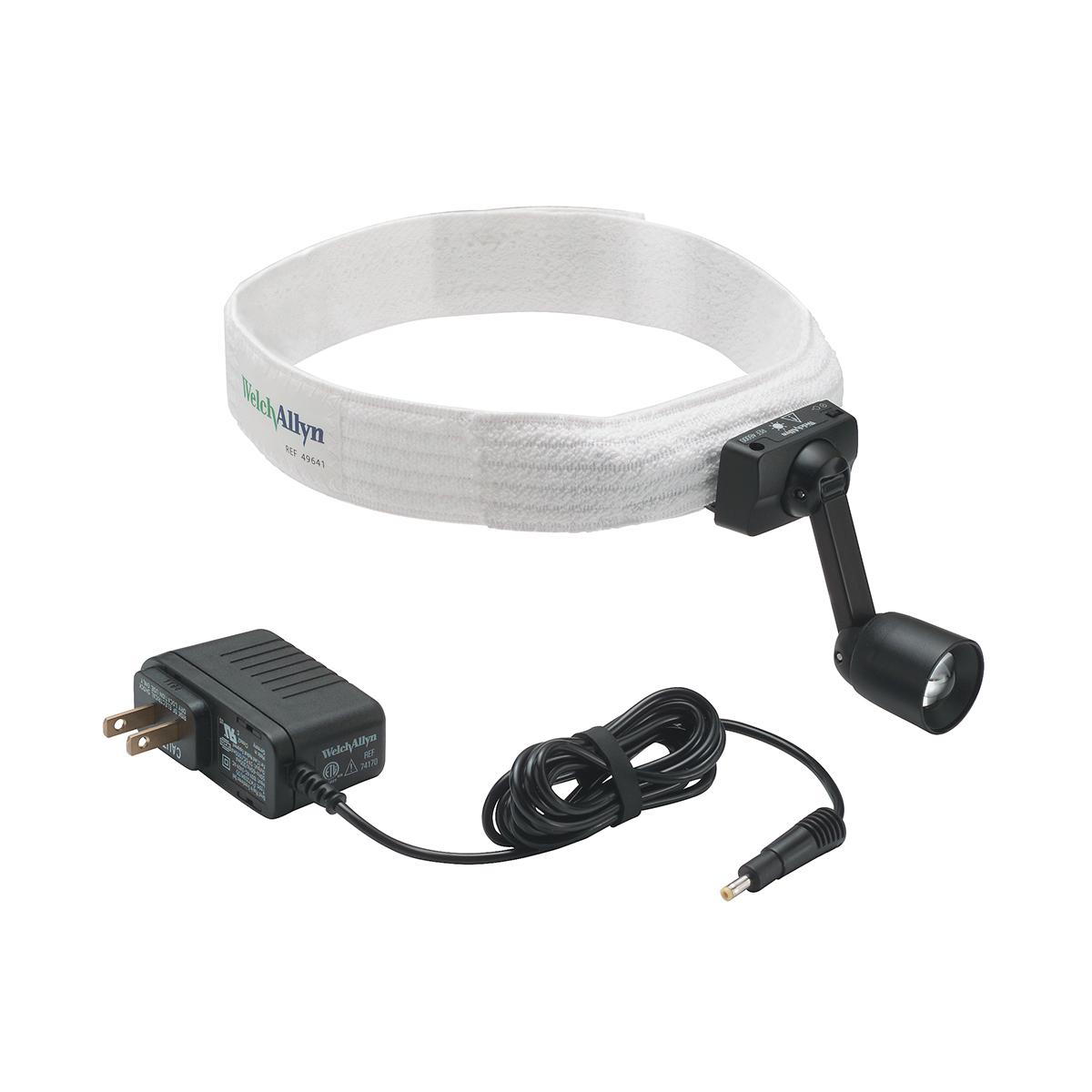 Green Series Portable Headlight Veterinary on headband with power cord