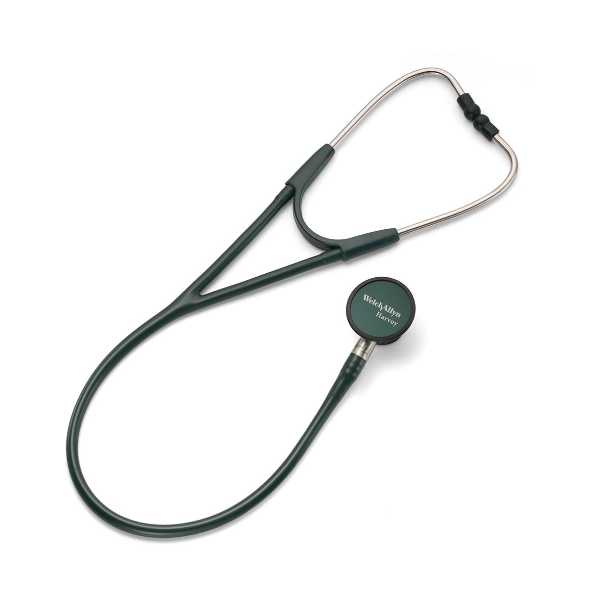 A profile view of the Welch Allyn Harvey Elite Stethoscope for Veterinary clinicians.
