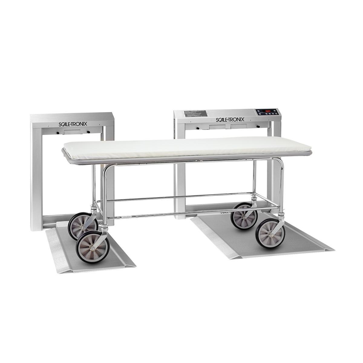 Balance Stow-A-Weigh pour patients sur civière, en fauteuil roulant, chaise, scooter et sur pieds avec civière