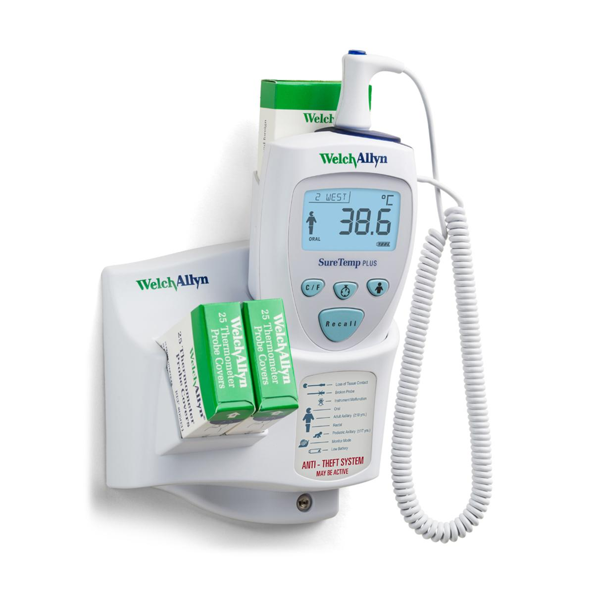 Welch Allyn Suretemp Plus 692 Thermometer, wall mounted, Celsius reading shown