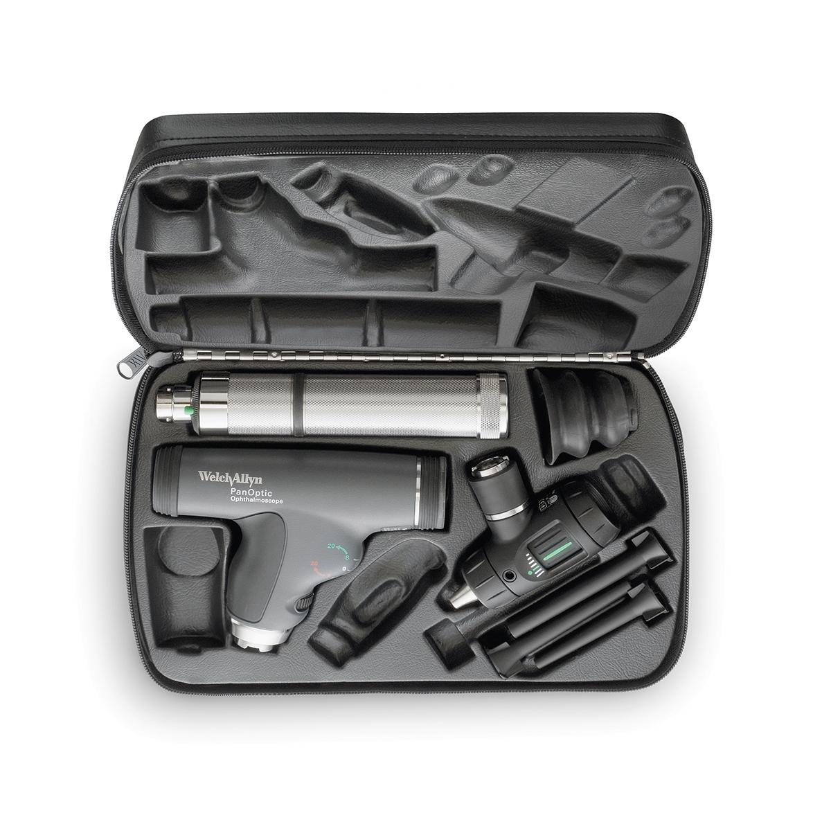 Veterinary Diagnostic Set, overhead view of instruments in open case