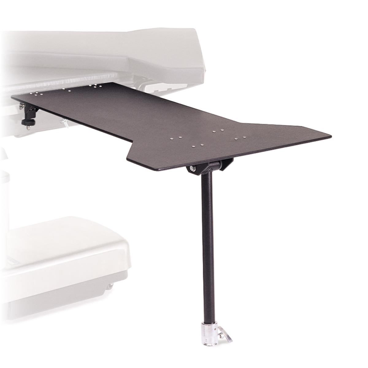 Carbon Lights™ Hourglass Table, #A-30650-C, attached to OR table