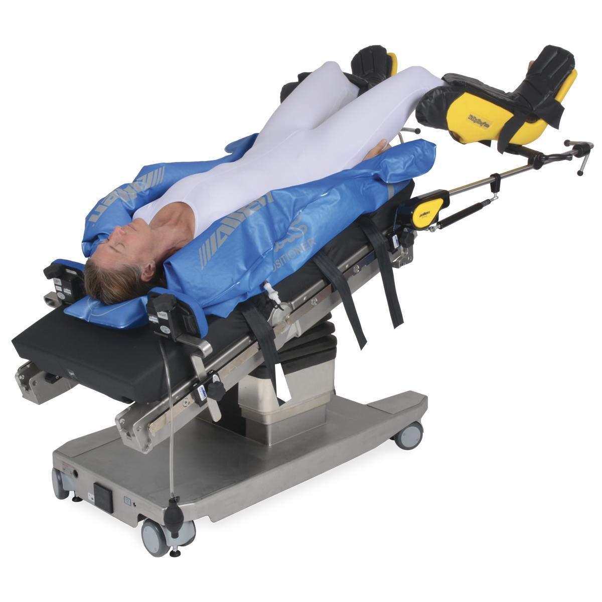 Allen Hug-U-Vac Steep Trend Positioners diagonal view with patient