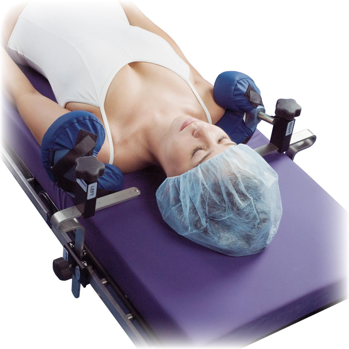 Shoulder Supports in use, patient prone