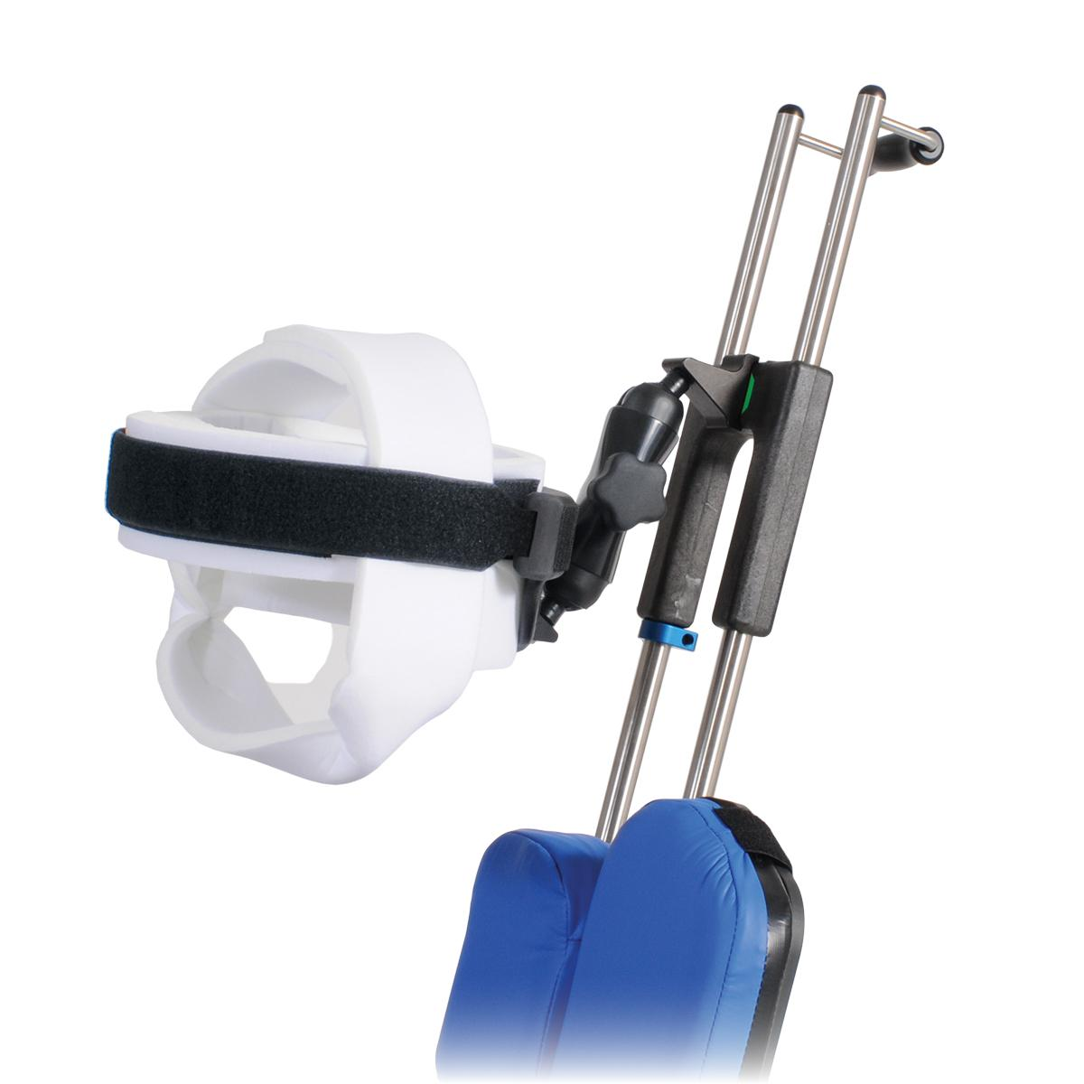 Universal Head Positioner side view with Universal Head Restraint Disposable