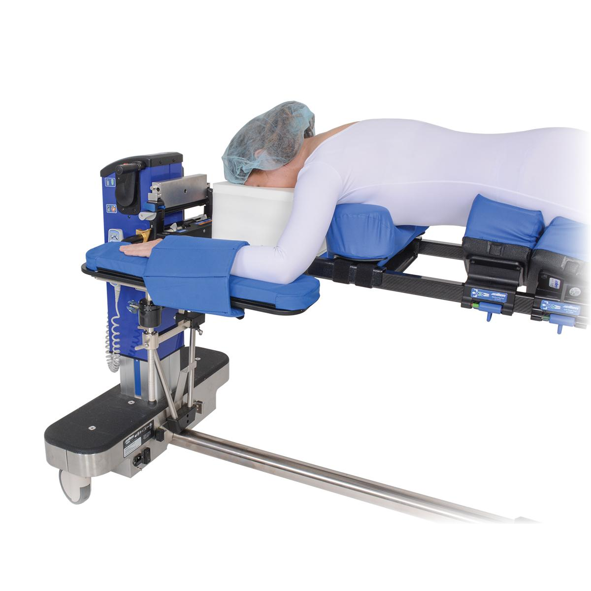 Advance Table Pinless H-Bracket, with patient in high position