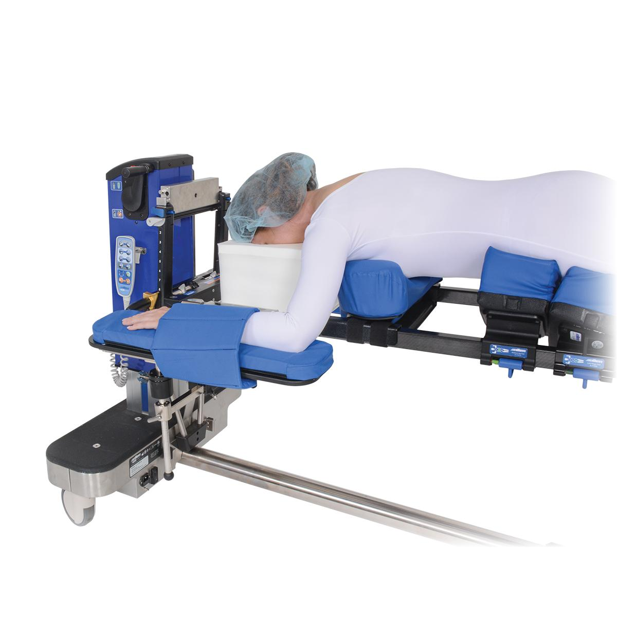 Advance Table Pinless H-Bracket, with patient in low position
