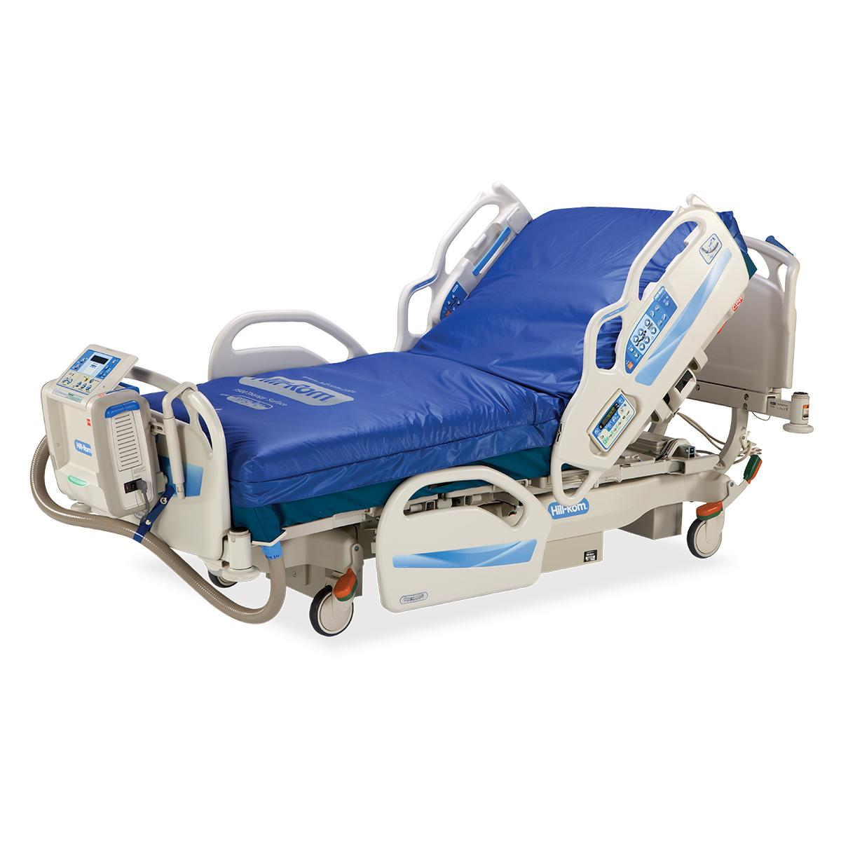Advanta 2 Med Surg Bed, 3/4 view, right side, shown with P500 surface