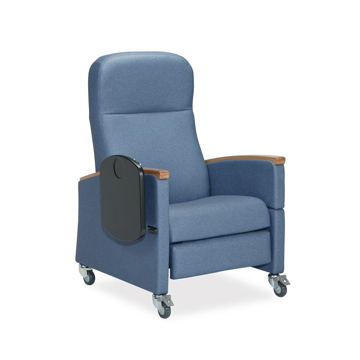 Art of Care® Three Position Recliner, blue, 3/4 view