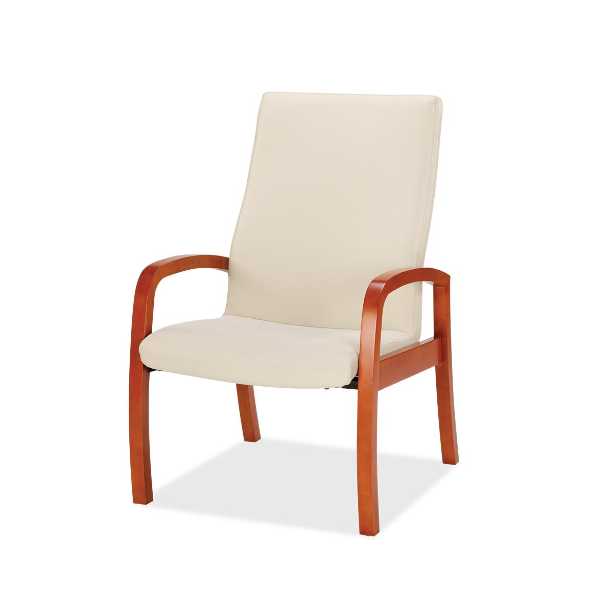 Brio highback chair, white, 3/4 view