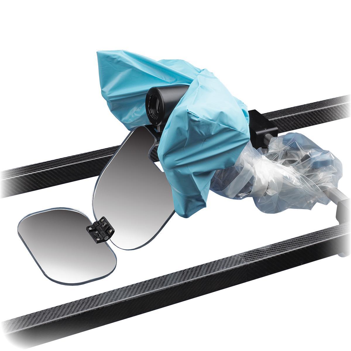 Système de positionnement de tête C-Flex, vue rapprochée, avec housse jetable