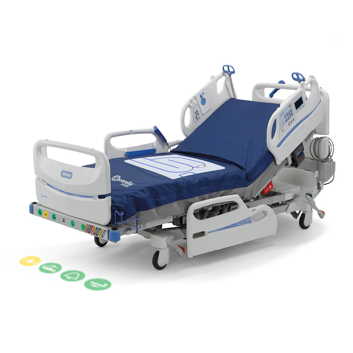 WatchCare Incontinence Management System in use on a Centrella Smart+ Bed. WatchCare Alert light is displayed in yellow.