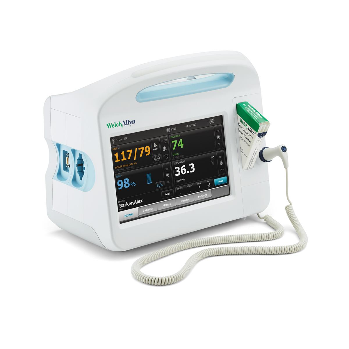 Connex Vital Signs Monitor, 3/4 view, left side