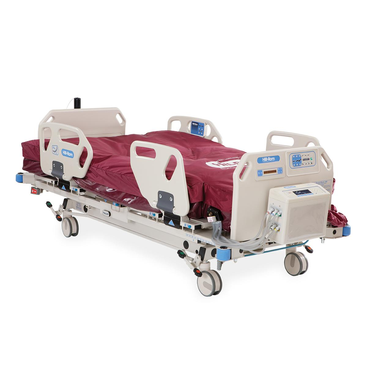 Excel Care ES Bariatric Hospital Bed, 3/4 view, surface lying flat