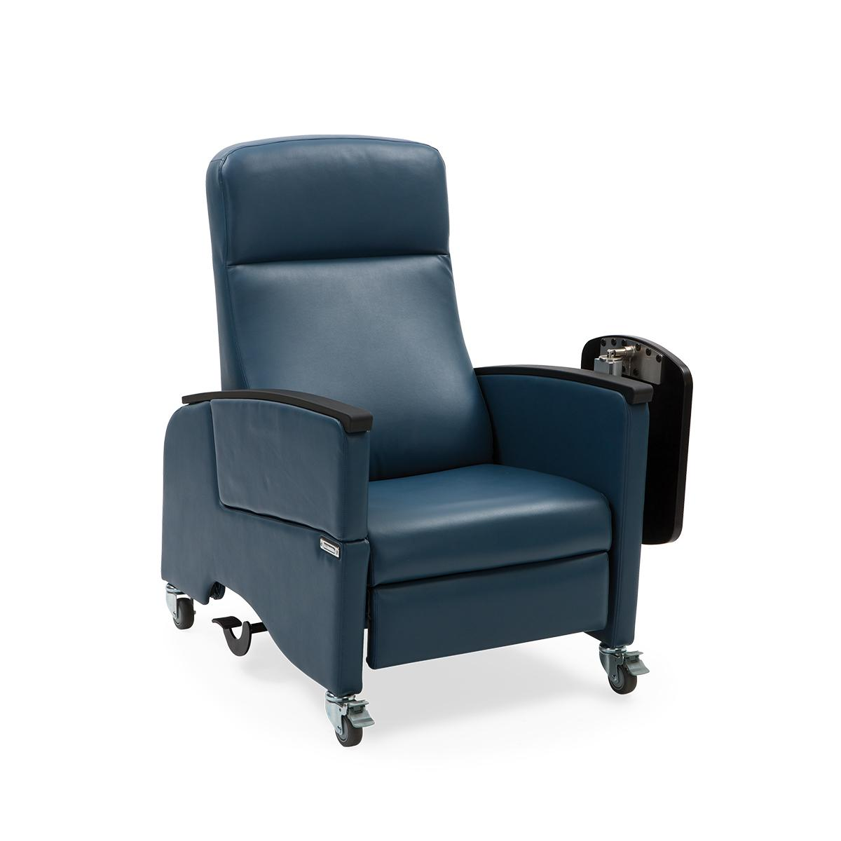 Art of Care Four Position Recliner, navy, 3/4 view
