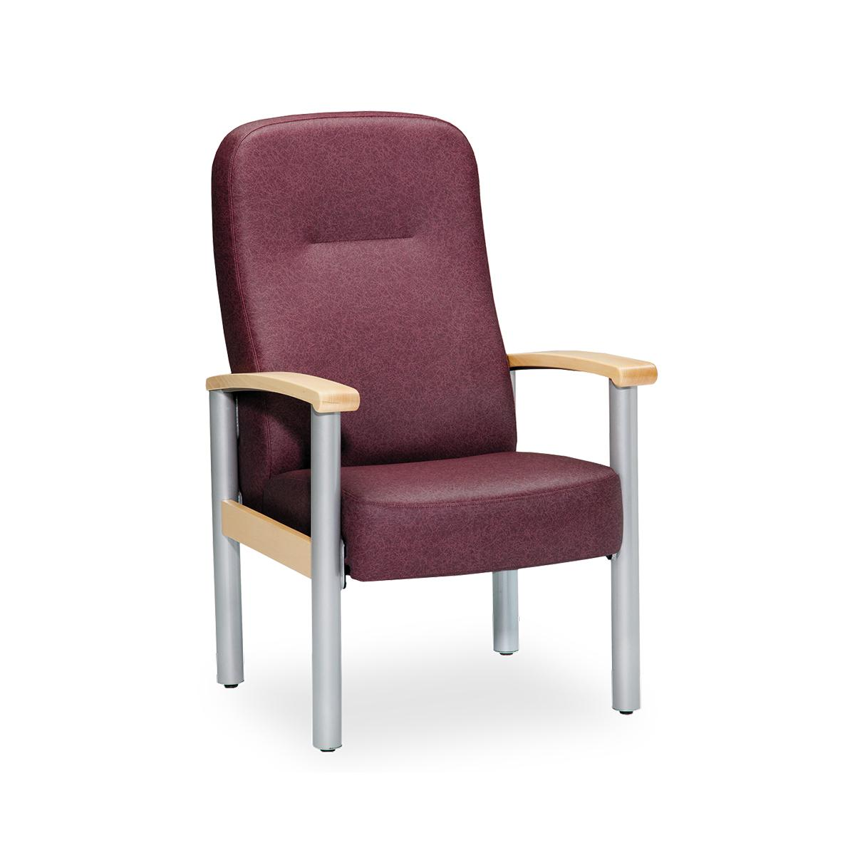 Art of Care Metropolitan highback chair, maroon, 3/4 view