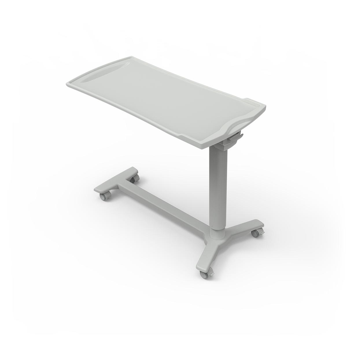 Overbed Table TA270 with h-shaped base and plastic top