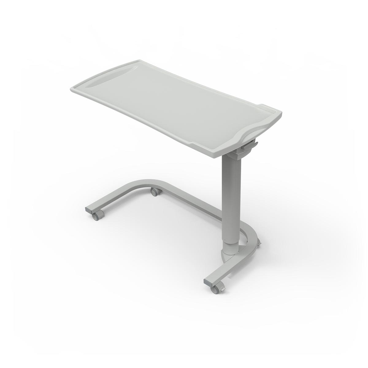 Overbed Table TA270 with u-shaped base and plastic top
