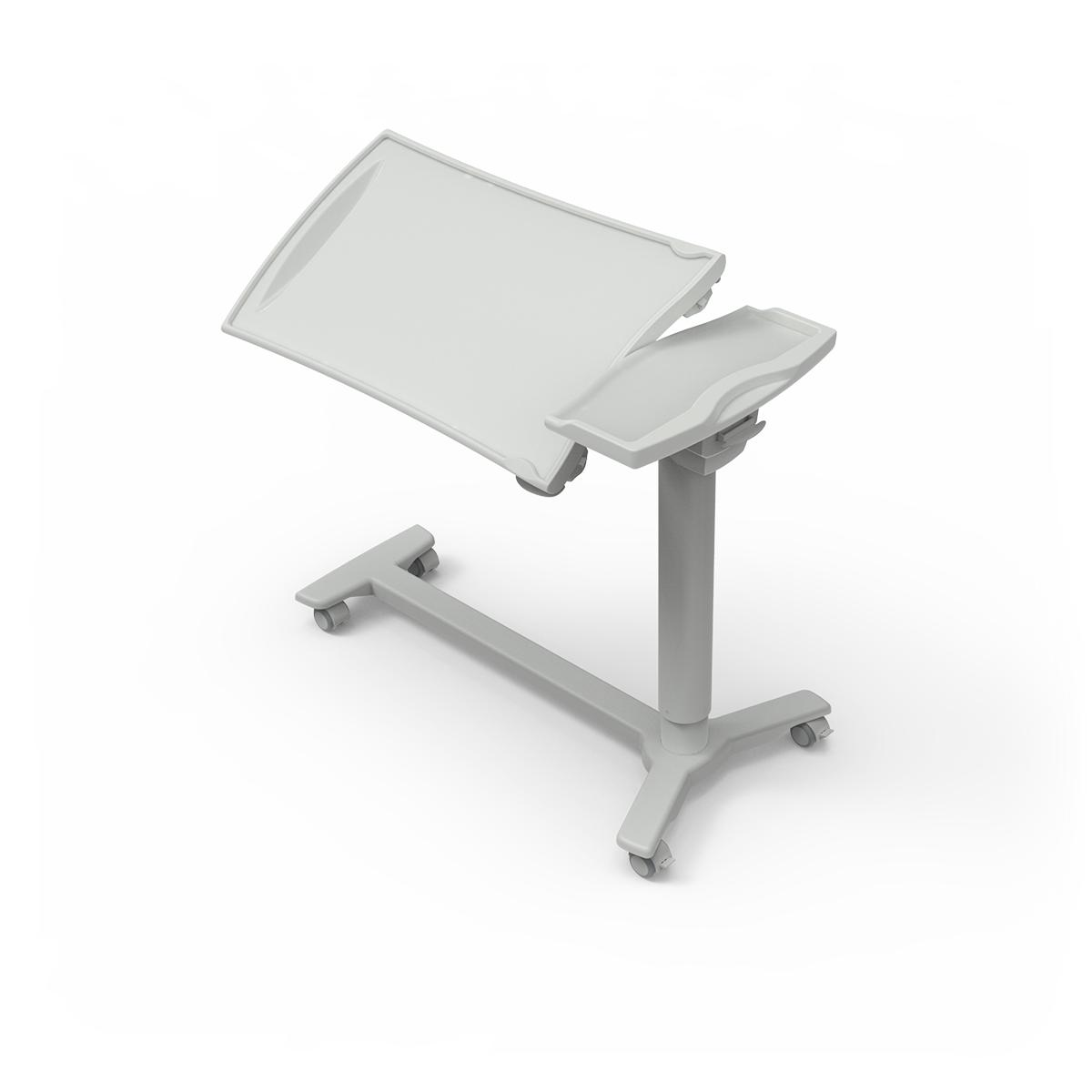 Overbed Table TA270 with h-shaped base and tilting plastic top