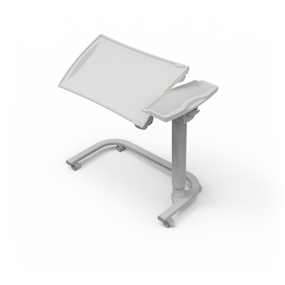 Overbed Table TA270 with u-shaped base and tilting plastic top