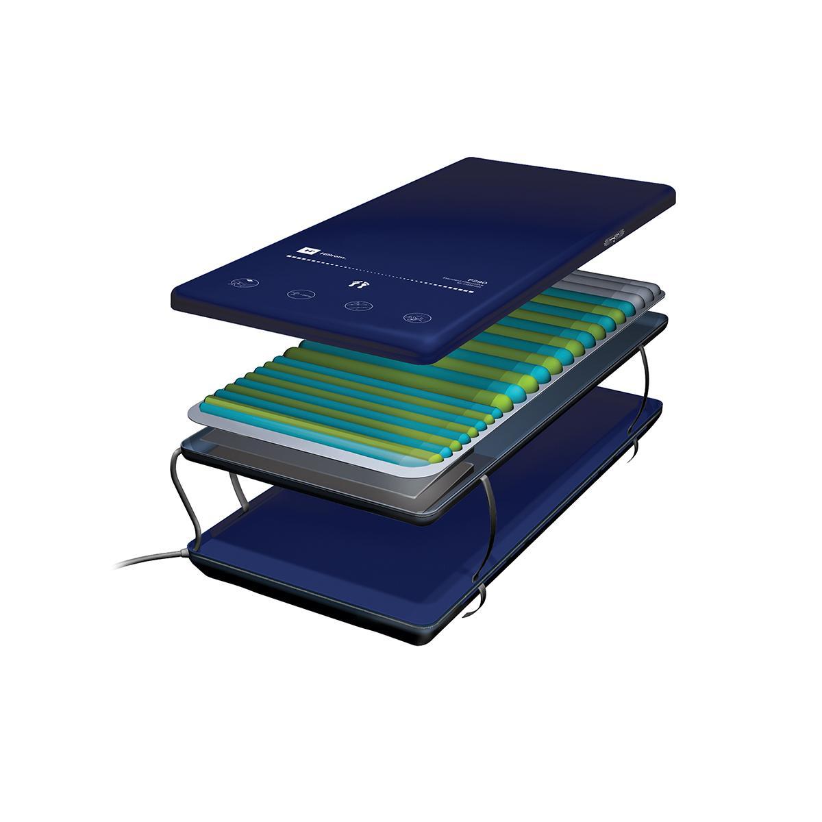 SuperficieP290, opción de espuma, vista ampliada ¾ que muestra las capas exteriores e interiores