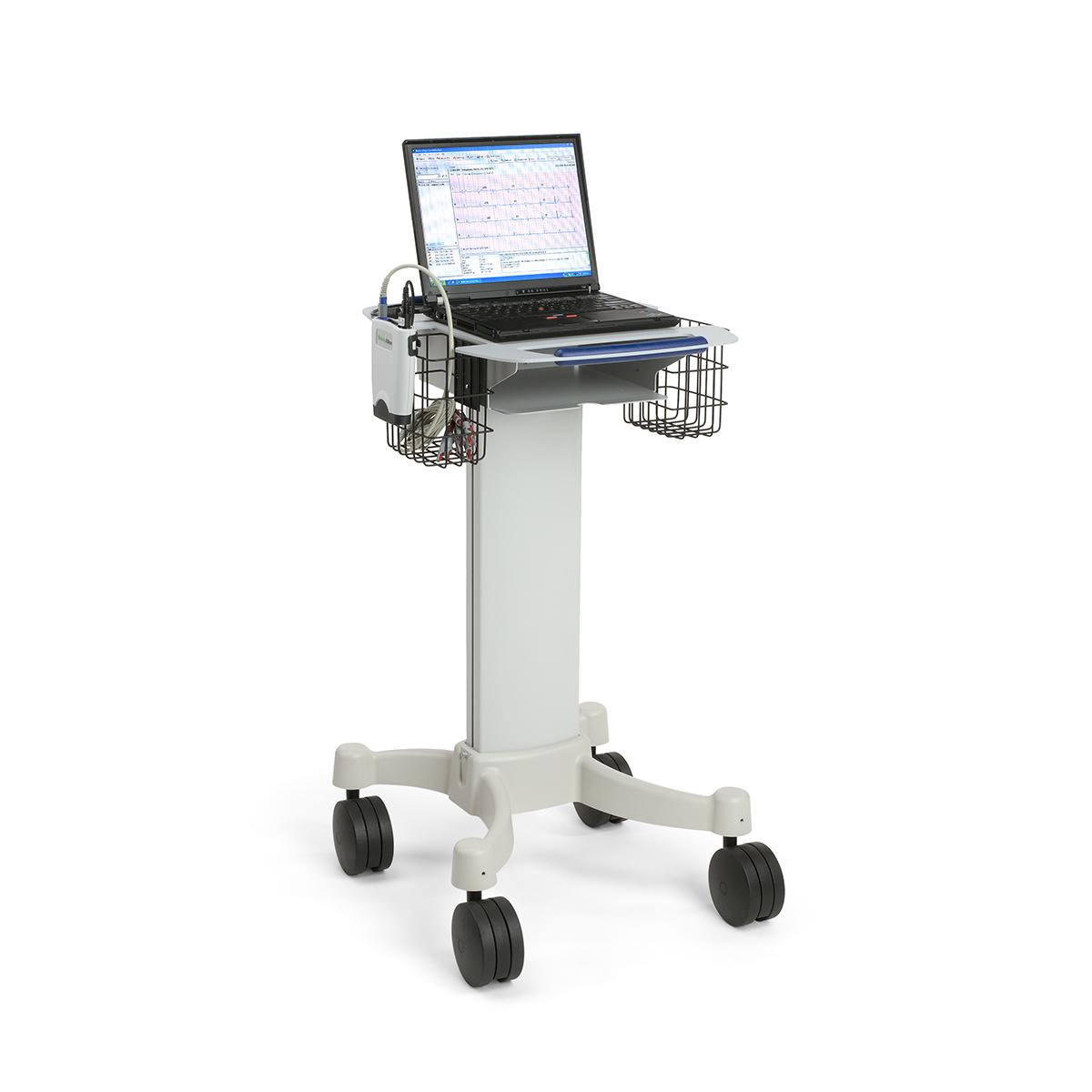 PC-Based Resting Electrocardiograph with laptop computer on rolling cart
