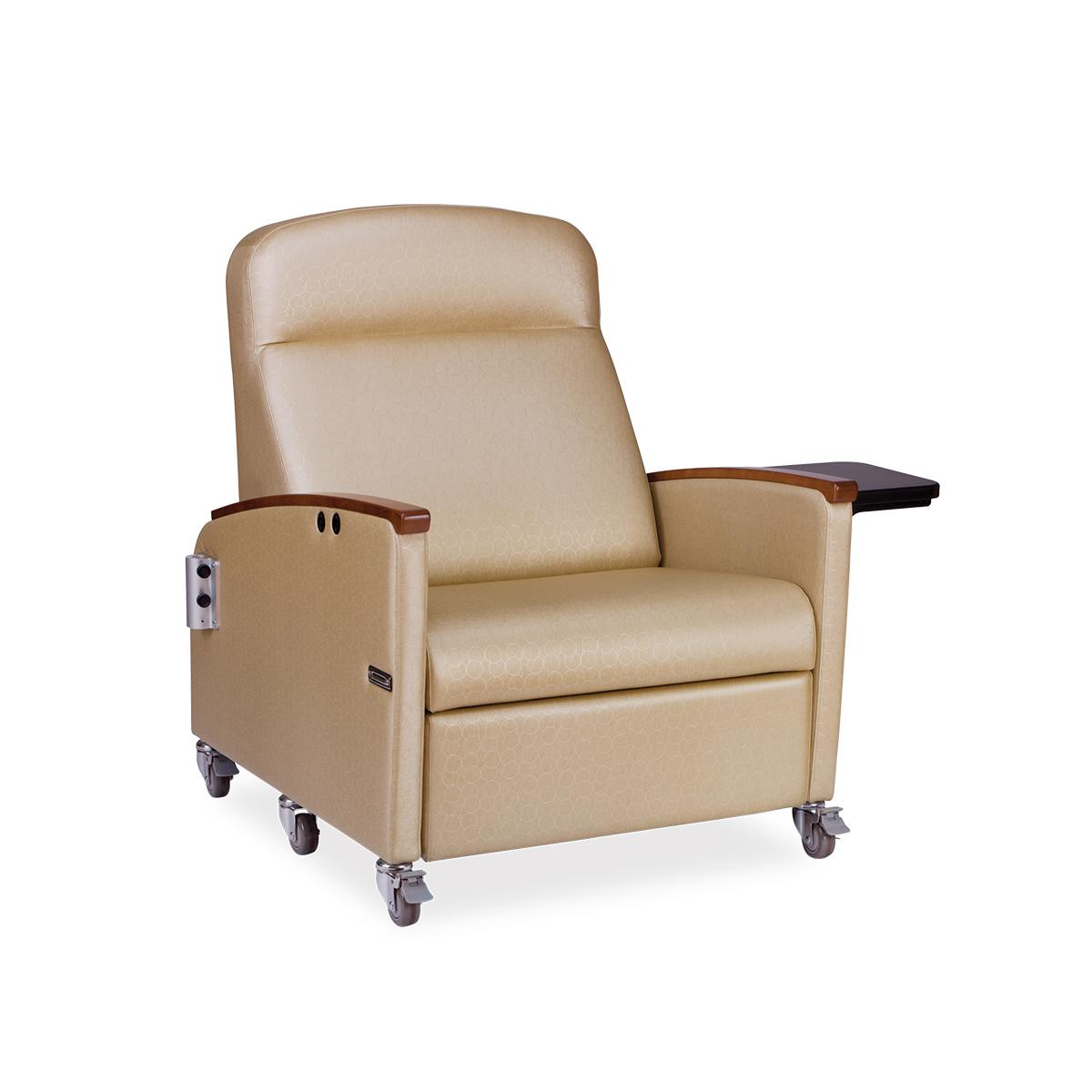 Art of Care Powered Bariatric Recliner, beige, 3/4 view