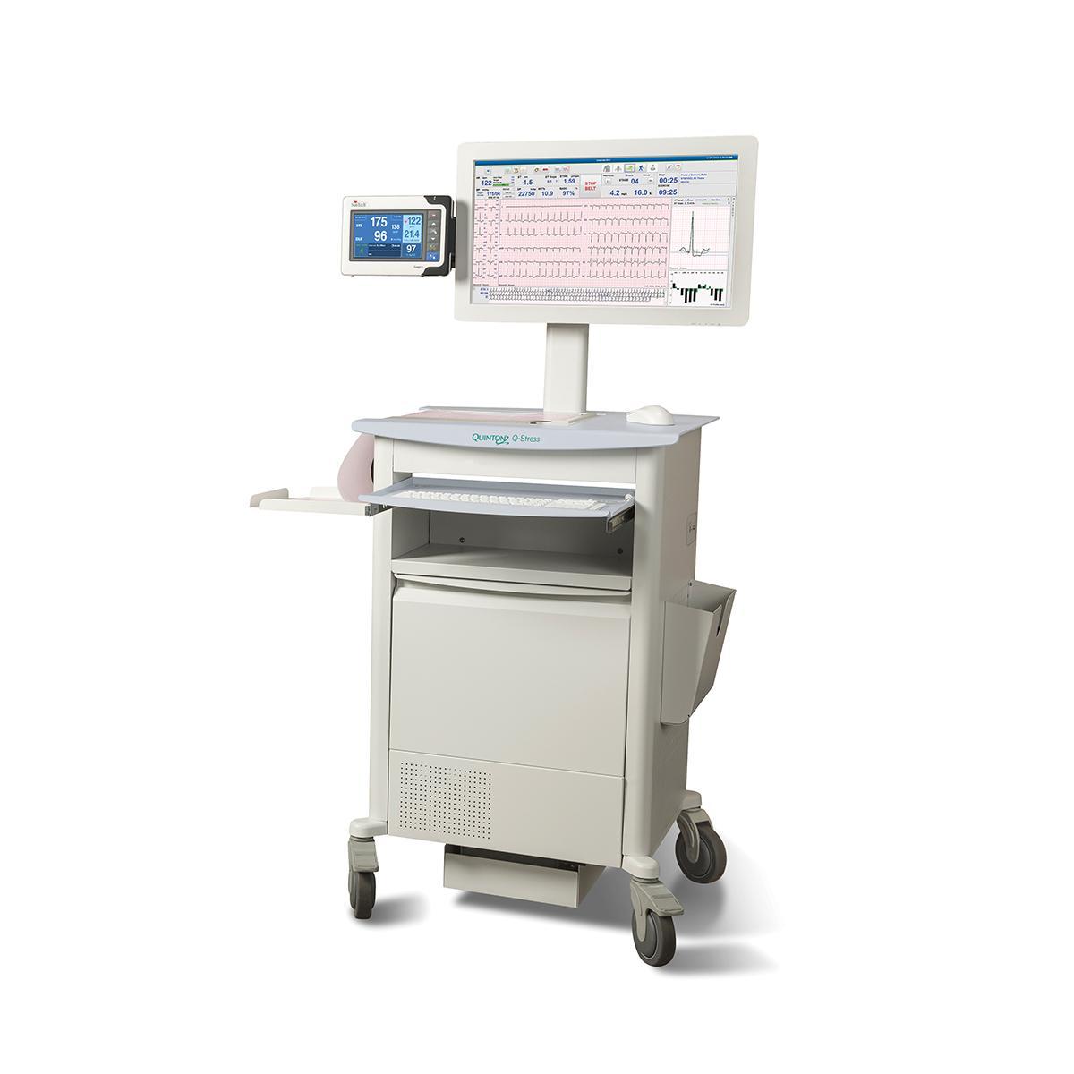 Q-Stress Cardiac Stress Testing System cart diagonal view