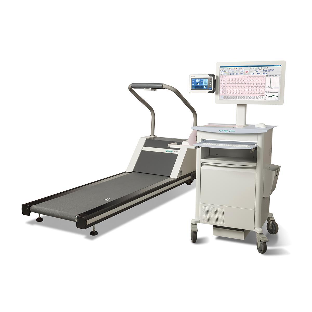 Q-Stress Cardiac Stress Testing System with treadmill, diagonal view