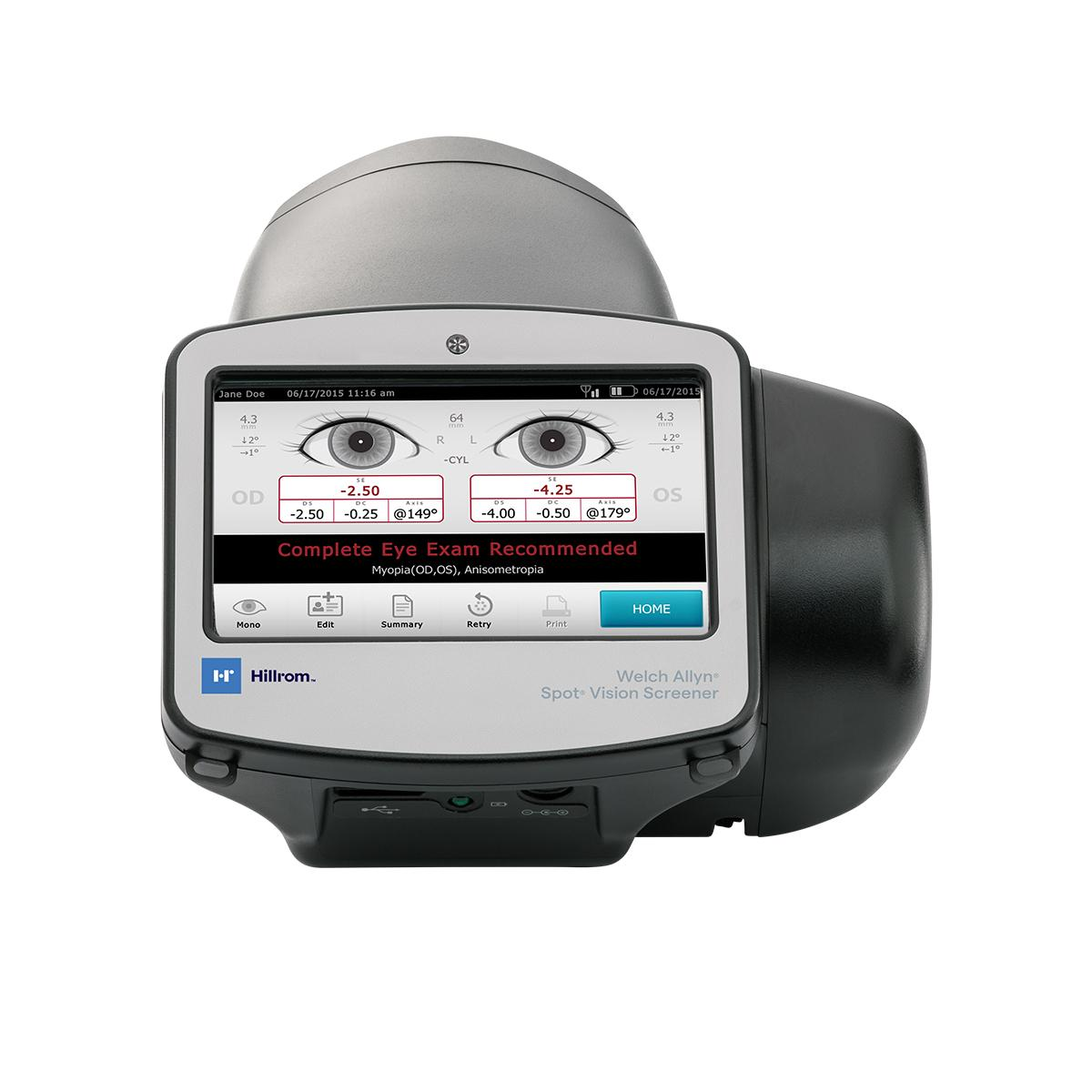 Spot® Vision Screener, straight on view