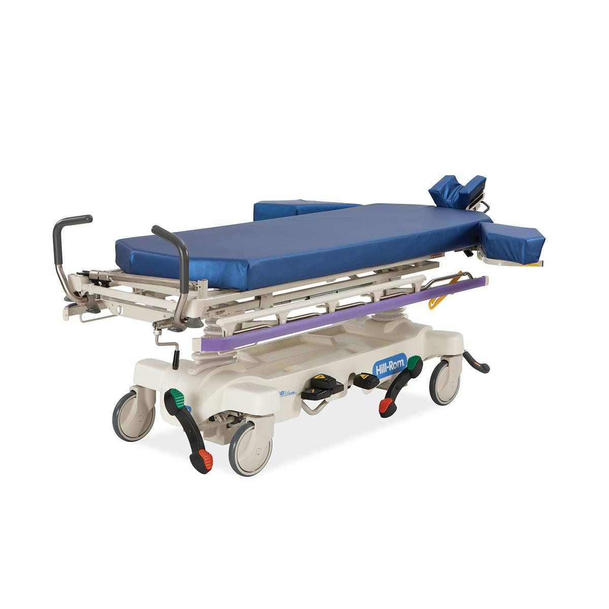 Hillrom™ Surgical Stretcher with surface lying flat, 3/4 view, LLH corner facing