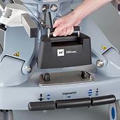 Chariot PowerShuttle, gros plan de la batterie