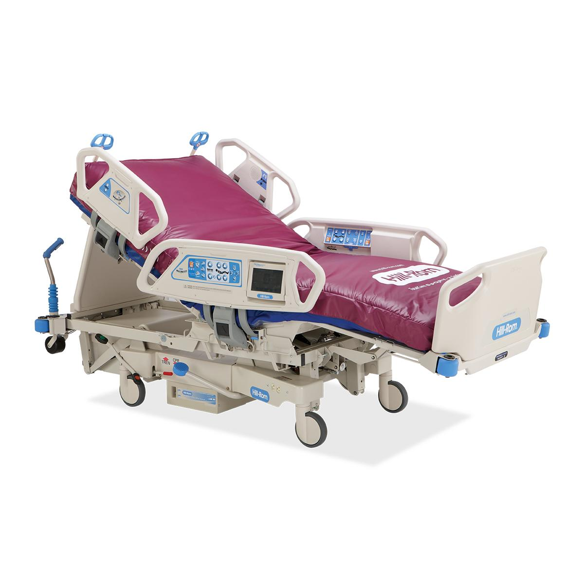 TotalCare SpO2RT 2 ICU Bed, 3/4 view