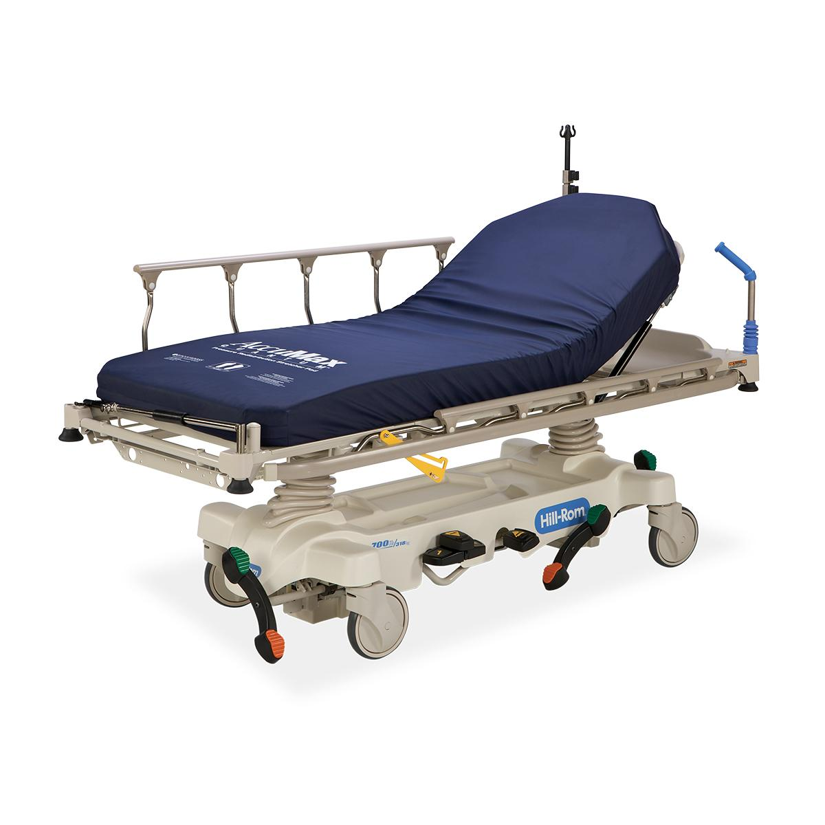Hillrom™ Transport Stretcher, 3/4 view with AccuMax Quantum™ surface