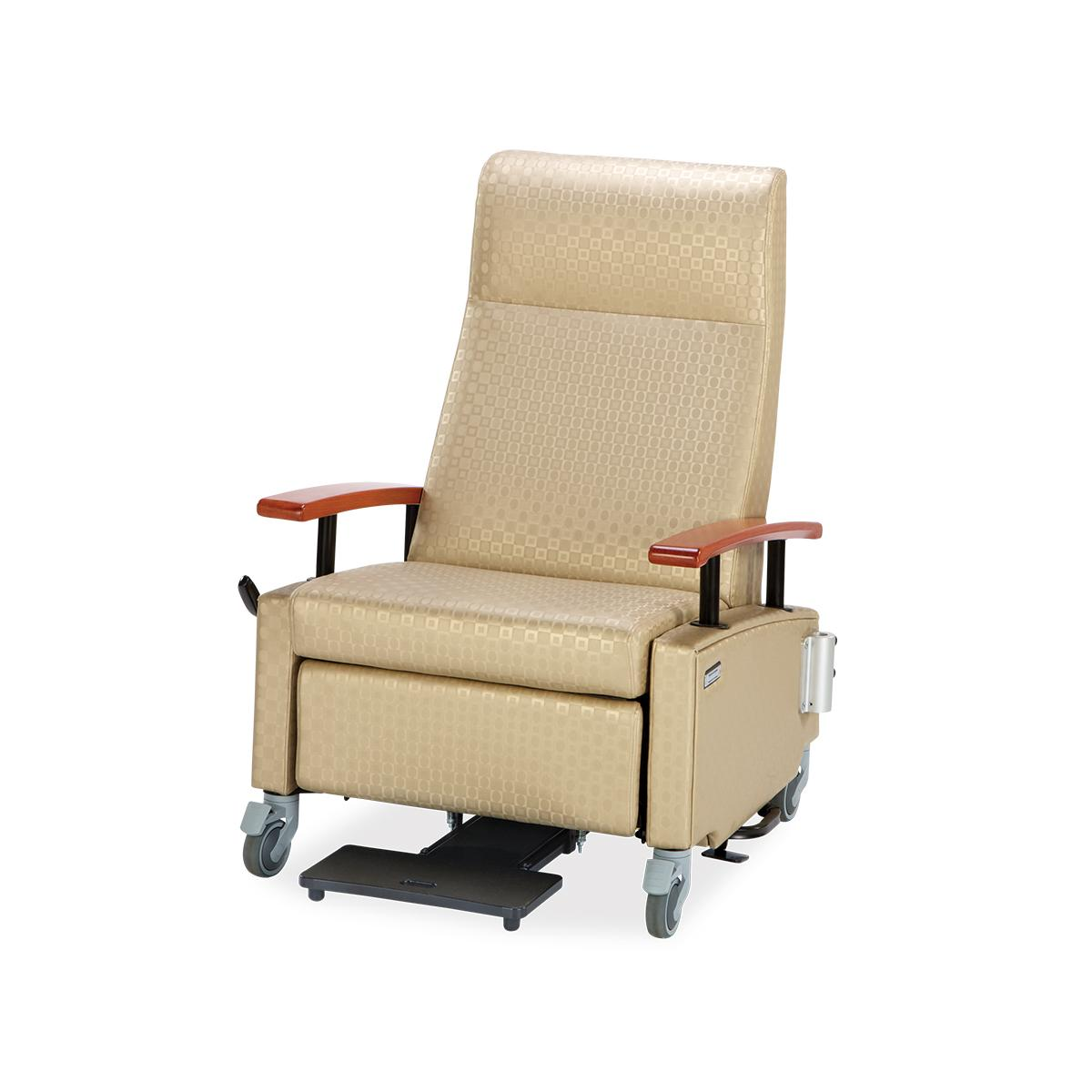 Art of Care Treatment Recliner, beige pattern, 3/4 view
