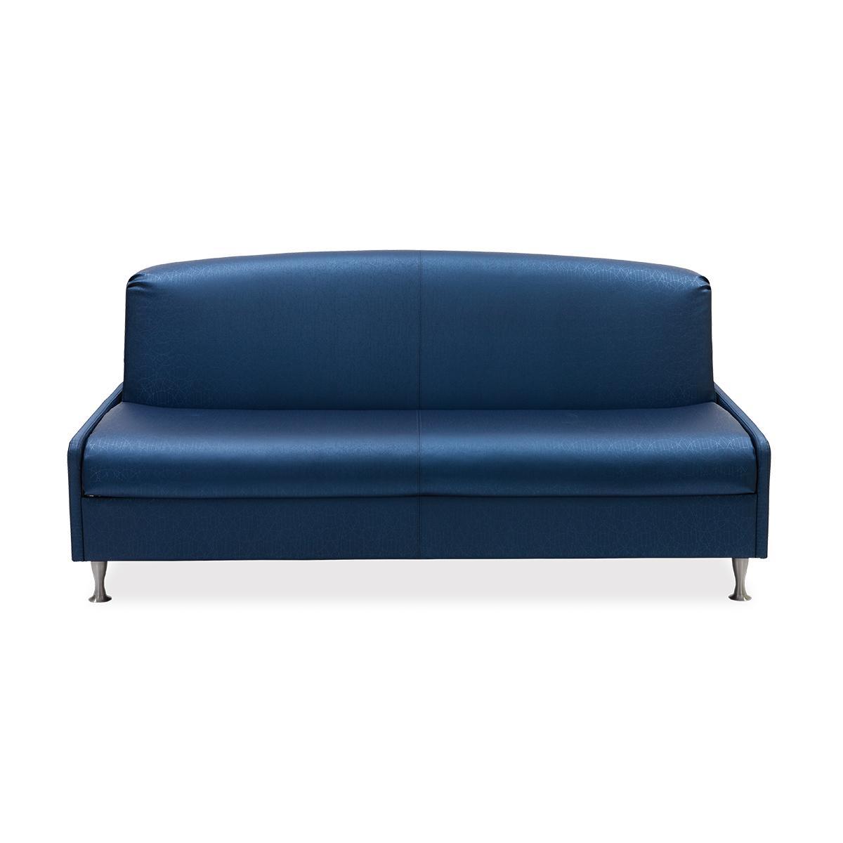 Perinatal Furniture, modern, trim line sleeper couch, blue, straight on