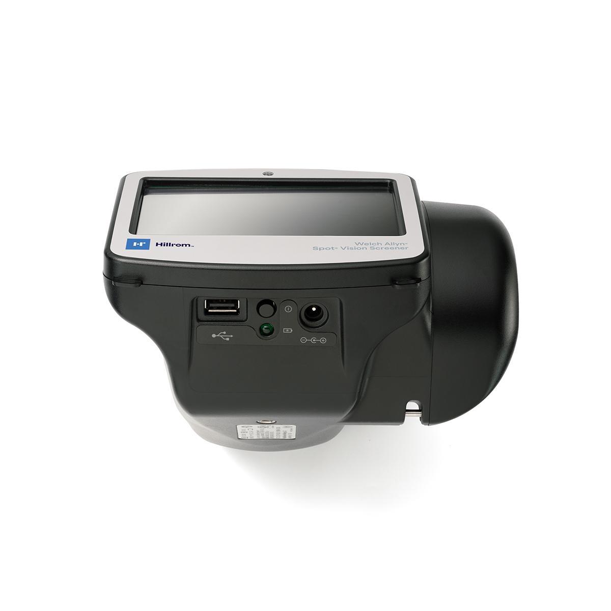 Spot® Vision Screener, bottom view, displaying ports