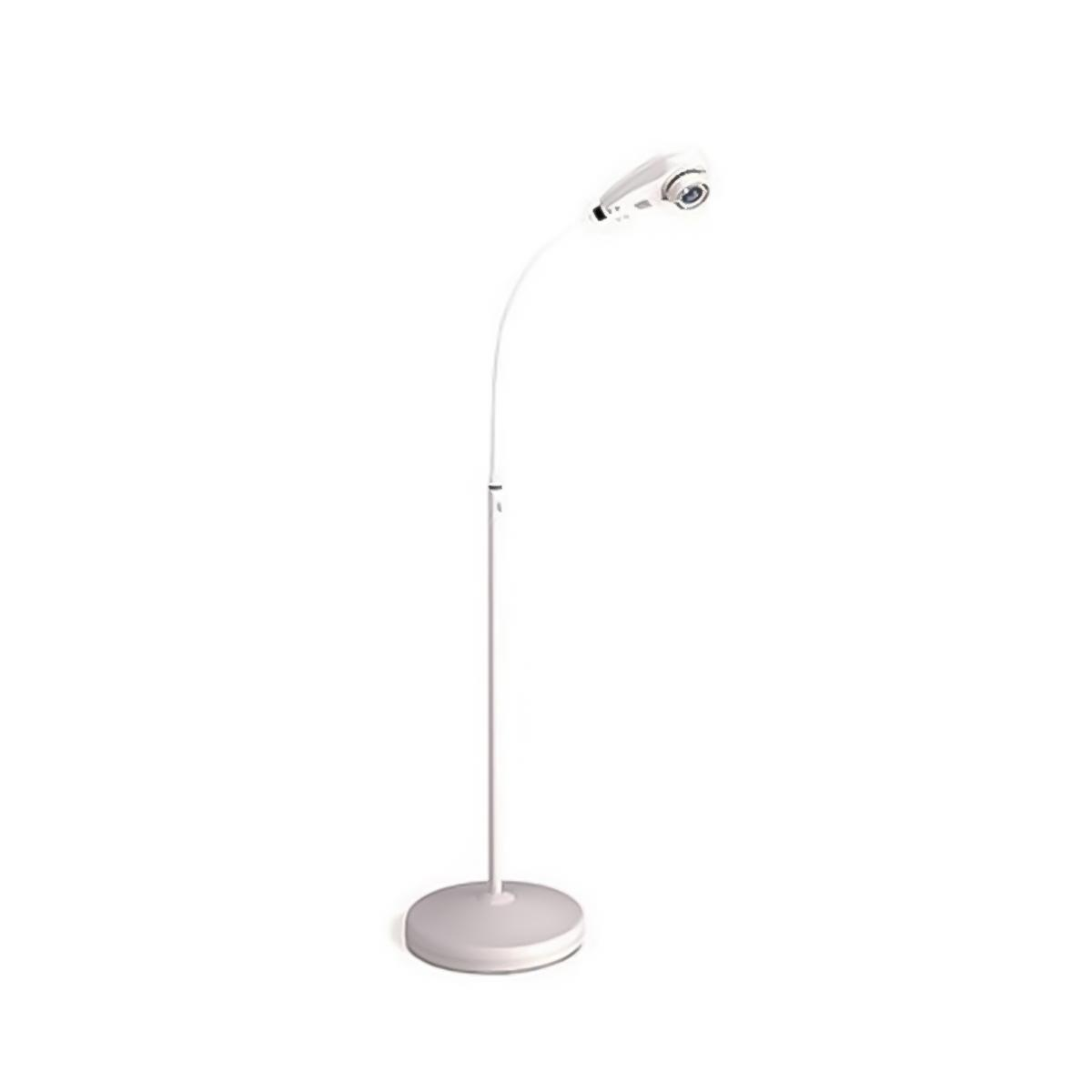 A white, free-standing Welch Allyn LS150 Examination Light.