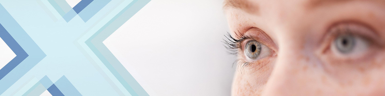 Gros plan des yeux d'une patiente