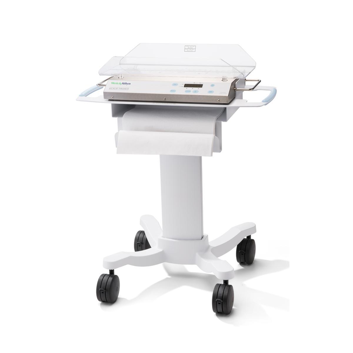 Balance pédiatrique/pour nourrissons Scale-Tronix avec berceau standard sur chariot mobile