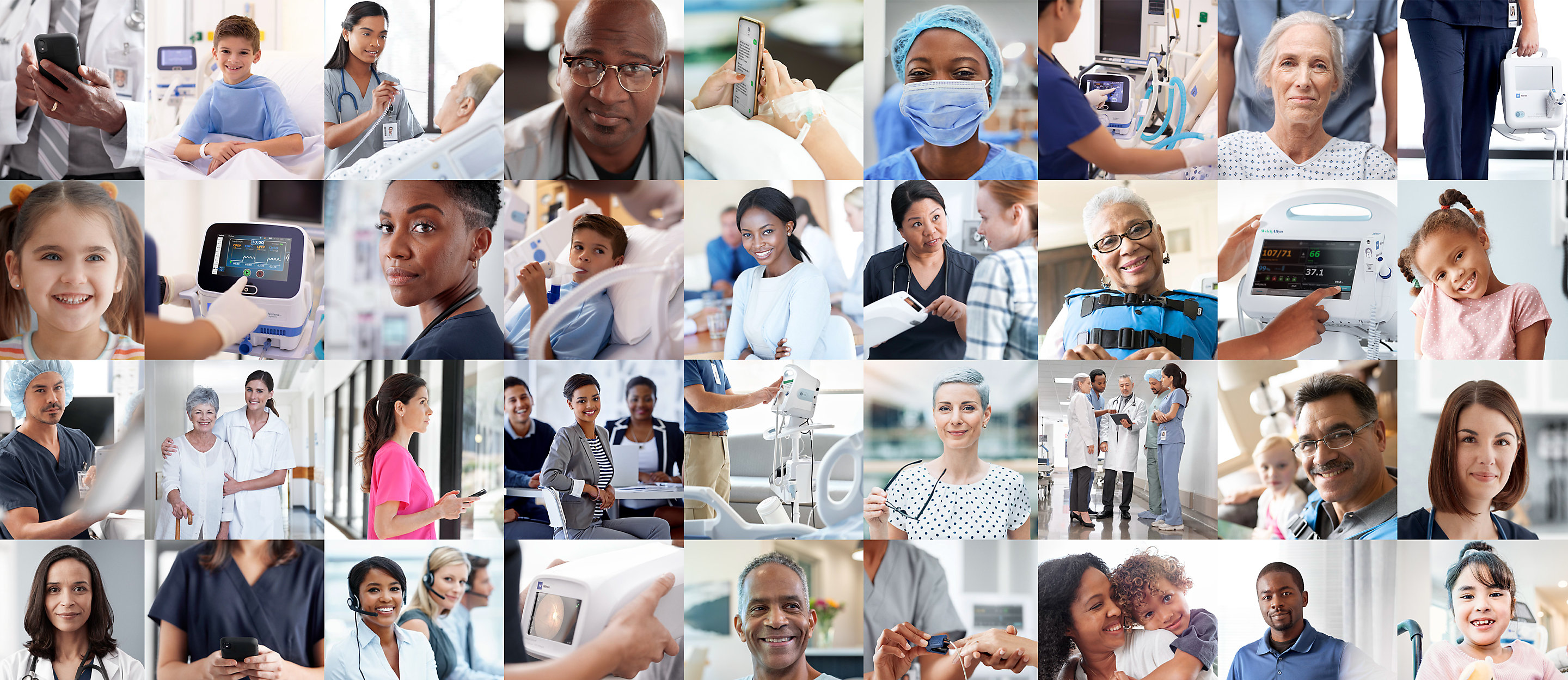 Collage of healthcare professionals and patients